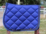 Horse underseat electric blue with double braid and strass
